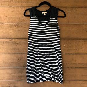 Navy stripe T-shirt dress- Banana Republic